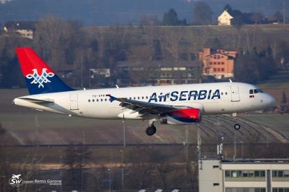 Air Serbia - A319-132 - YU-APB - ZRH/LSZH 07.03.2015