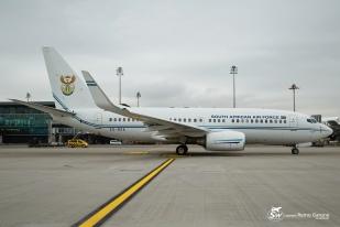 South Africa Air Force - Boeing 737-7ED BBJ - ZS-RSA - Zurich ZRH/LSZH 23.01.2015