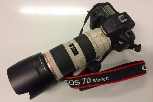 Canon EF 70-200 f/2,8L IS II USM monté sur mon EOS 7D MkII
